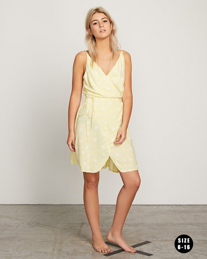 Volcom Things Changing Dress - Faded Yellow (FDY)