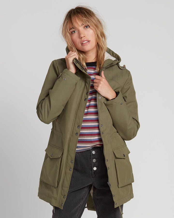 Volcom Walk On By Parka - Army Combo