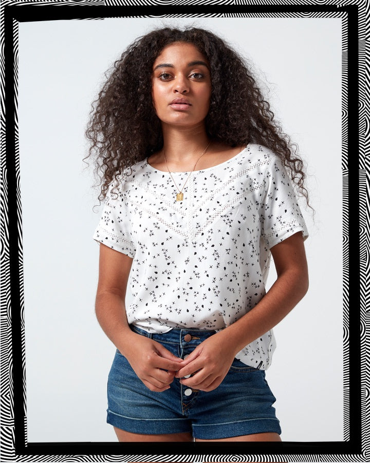 Volcom Wait It Out Top - Star White