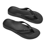 Archies Arch Support Jandals - Black