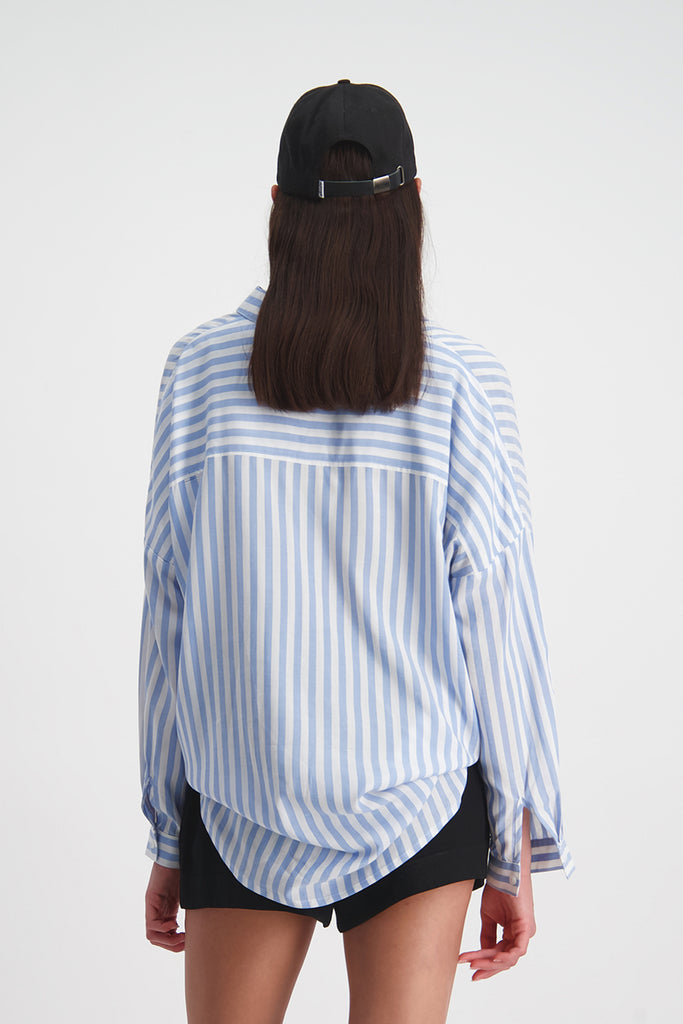 Huffer Farrow India Shirt - Blue/White