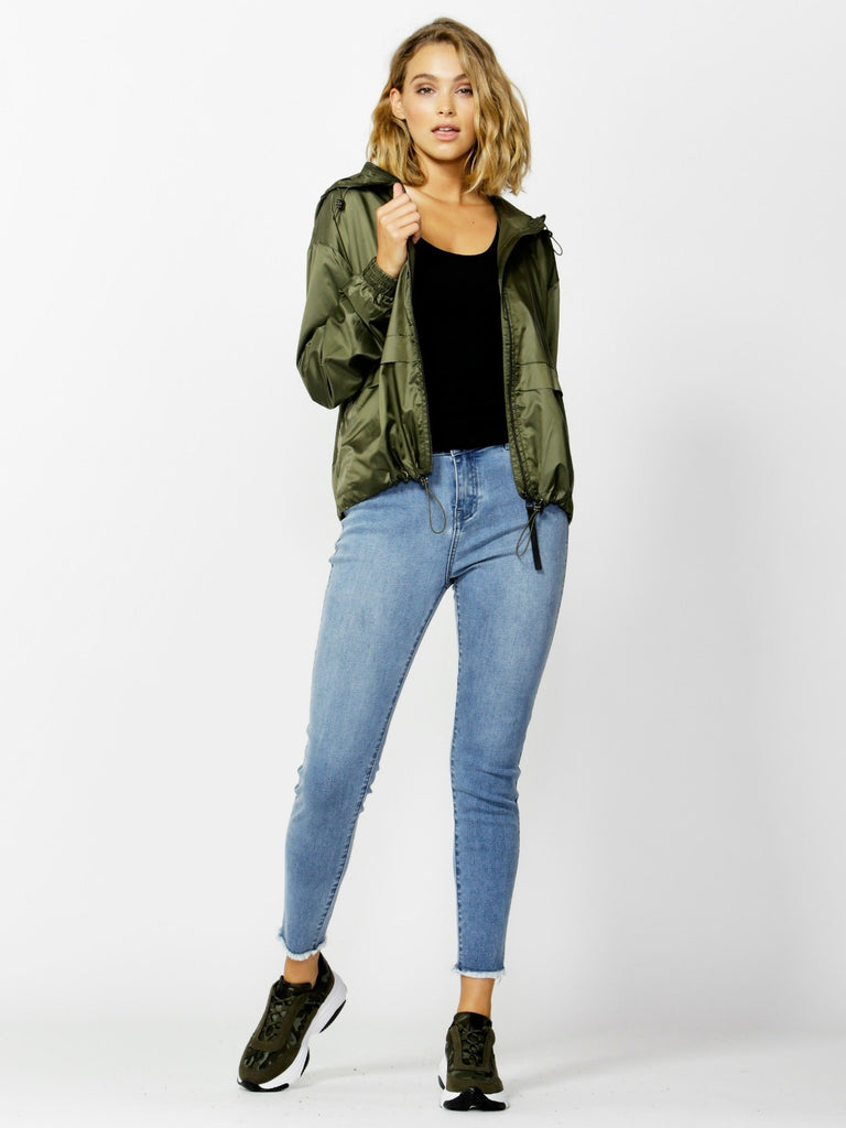 Betty Basics Knox Spray Jacket - Olive