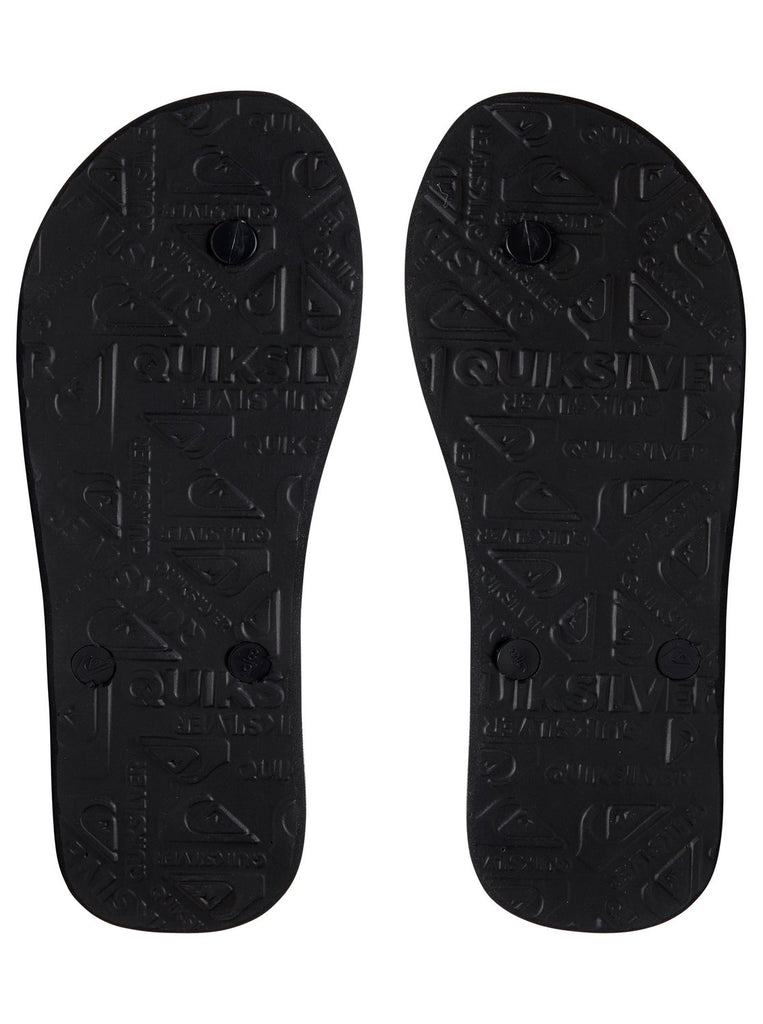 Quiksilver Youth Molokai Massive Jandals - Black/Grey/Black