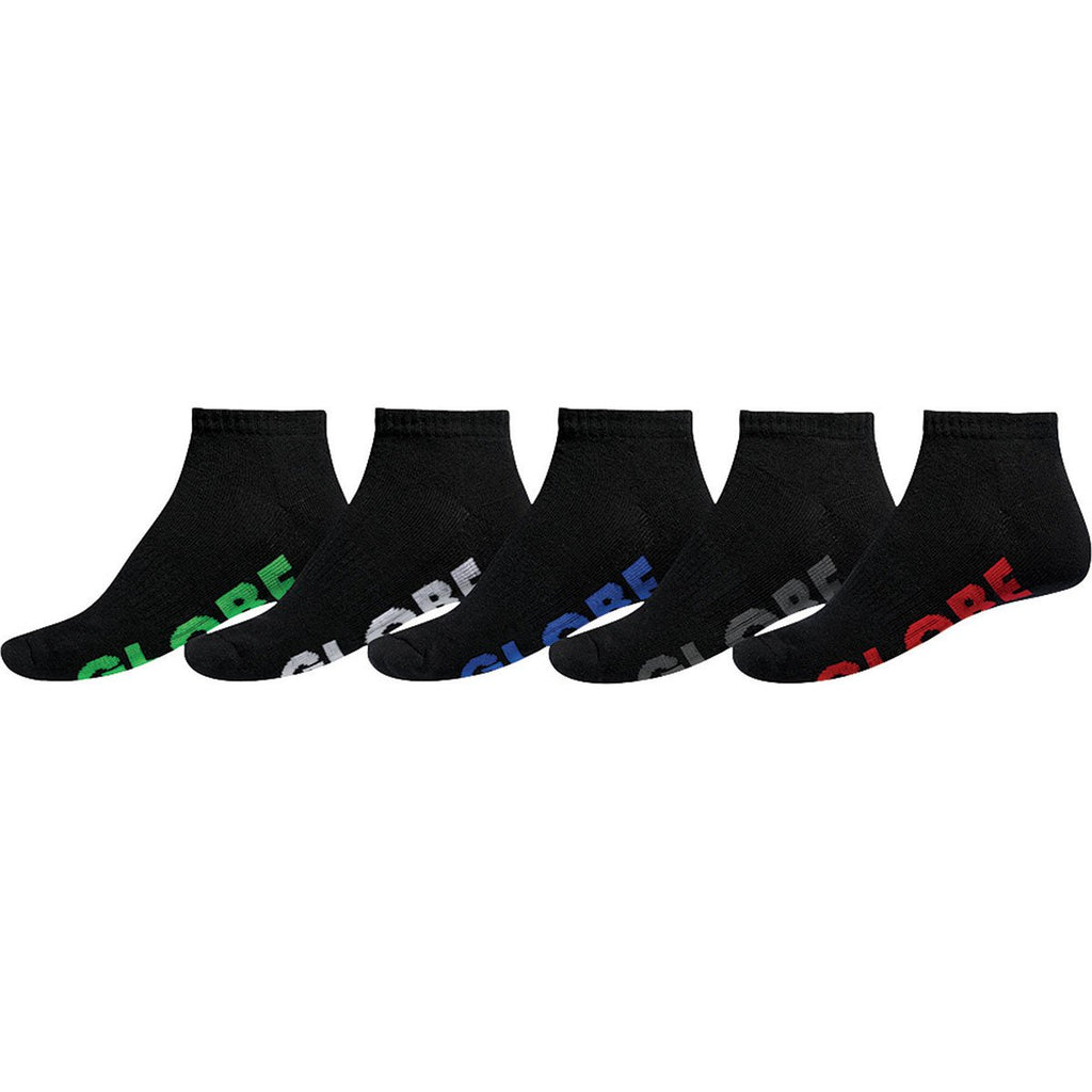 Globe Mens Large Stealth Ankle Sock 5 Pack - Size 12-15