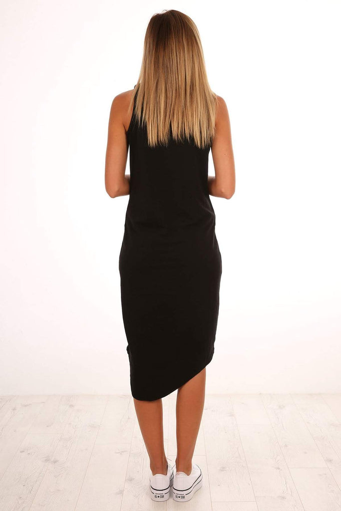 Silent Theory One In Eight Midi Dress - Black