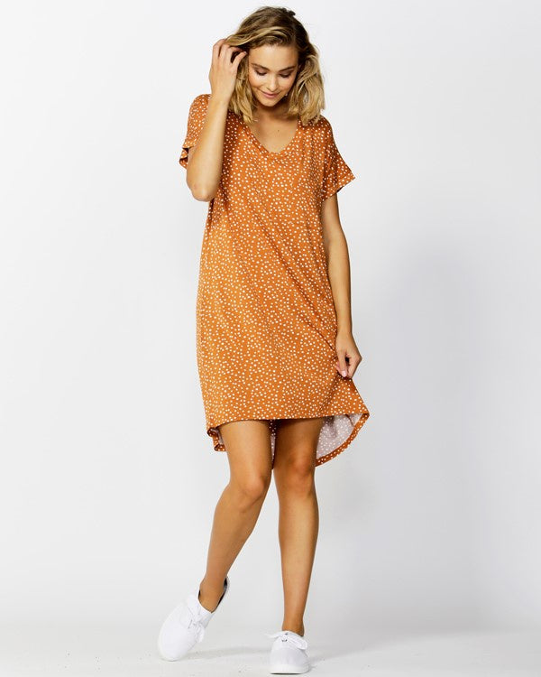 Betty Basics Arizona Dress - Clay Bambi Spot
