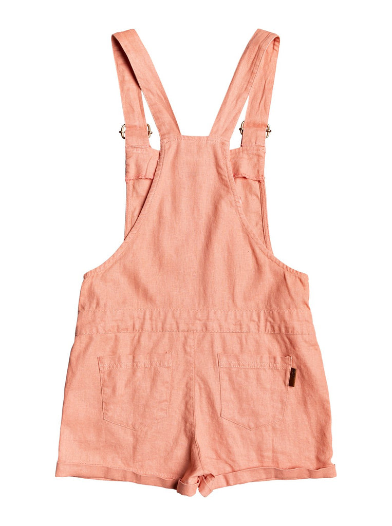 Roxy Girls Early Grey Overalls - Terra Cotta