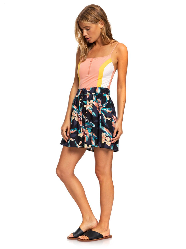 Roxy Shallow End Skirt - Anthracite Tropicoco