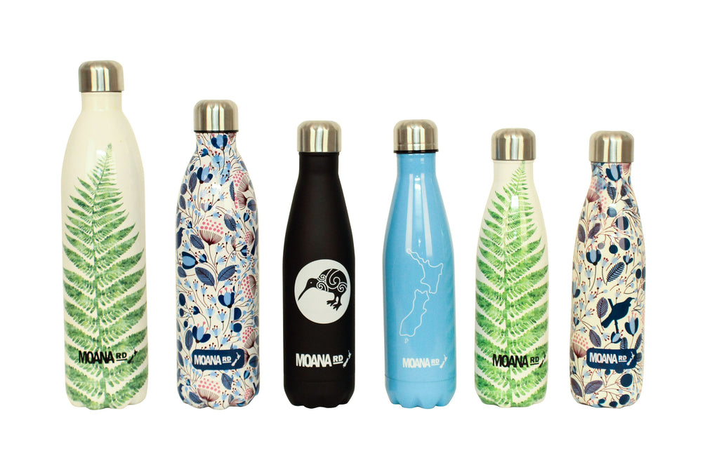 Moana Rd Drink Bottle 500 ml - NZ Map