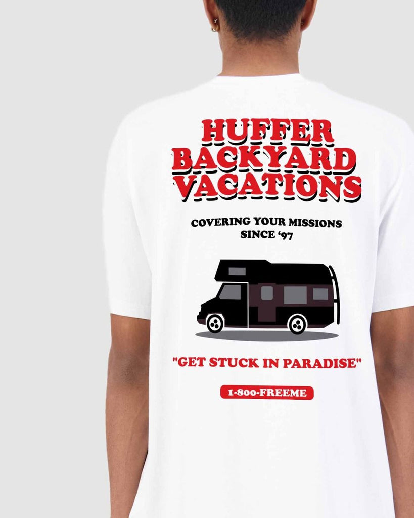 Huffer Sup Tee/Vacation - White