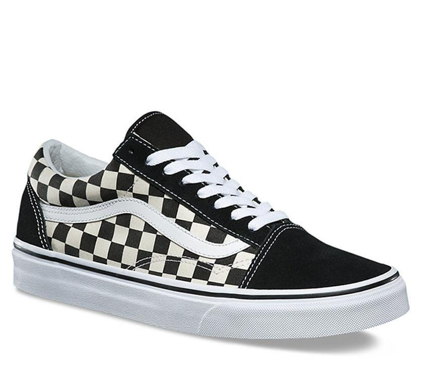 Vans Old Skool - Primary Check - Black/White