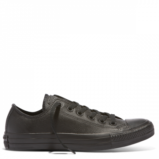 CHUCK TAYLOR ALL STAR LEATHER LOW - BLACK MONOCH