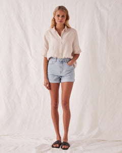 ROLLED HEM SHORTS - PACIFIC BLUE