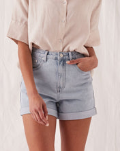 Load image into Gallery viewer, ROLLED HEM SHORTS - PACIFIC BLUE