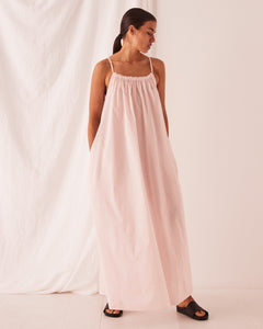 VOILE MAXI DRESS - PINK DEW