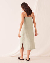 Load image into Gallery viewer, LINEN SLIP DRESS - SOFT GREEN