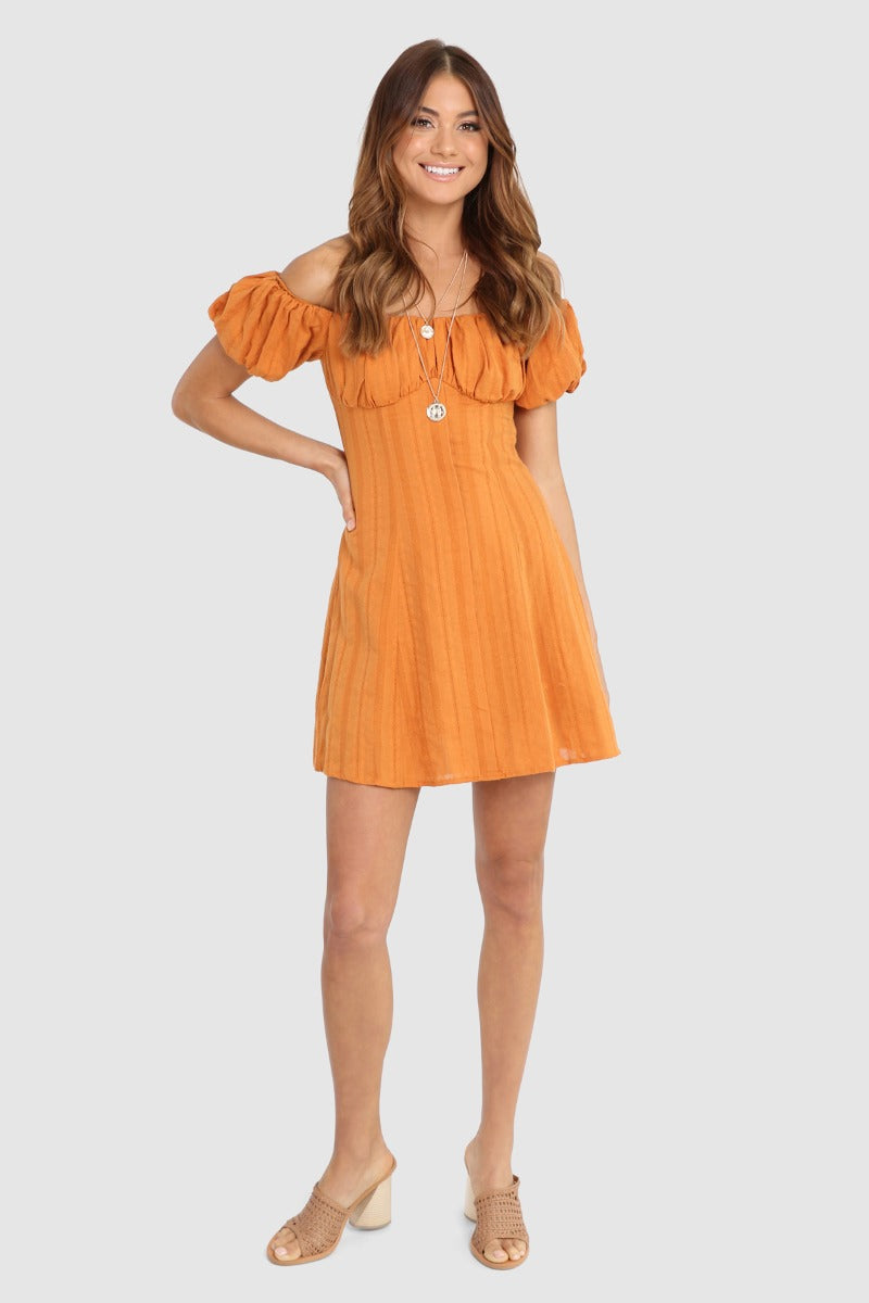 GRETA DRESS - RUST