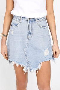 JAYMEE DENIM SKIRT - DENIM