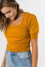 Load image into Gallery viewer, NORDIC KNIT TOP - MUSTARD
