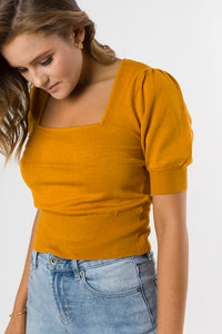 NORDIC KNIT TOP - MUSTARD