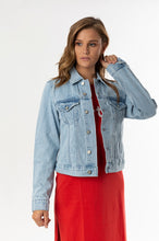Load image into Gallery viewer, FEMME DENIM JACKET - PACIFIC BLUE