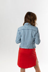 FEMME DENIM JACKET - PACIFIC BLUE