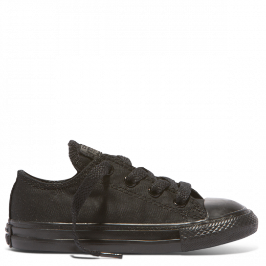 CHUCK TAYLOR ALL STAR YOUTH CANVAS LOW - BLACK MONOCH
