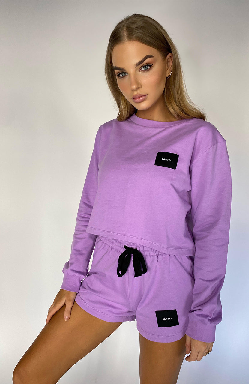 CARTEL BADGE LOGO SHORT - LAVENDER