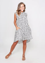 Load image into Gallery viewer, BIZZA DRESS - WHITE LEOPARD