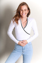 Load image into Gallery viewer, VISUAL LONG SLEEVE TOP - WHITE
