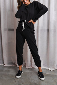 KIN FLEECE TRACKPANT - BLACK