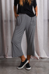 LUQA PANT - BLACK/WHITE