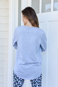RENEE LONGLINE JUMPER- GREY MARLE