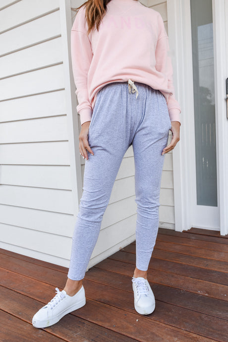FLUID PANT-GREY MARLE