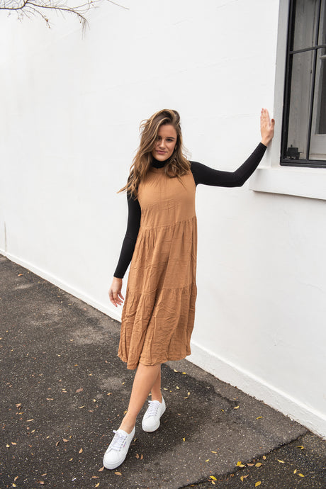 SAVANNA DRESS - TOFFEE