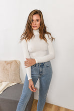 Load image into Gallery viewer, TURTLE NECK BODYSUIT- WHITE