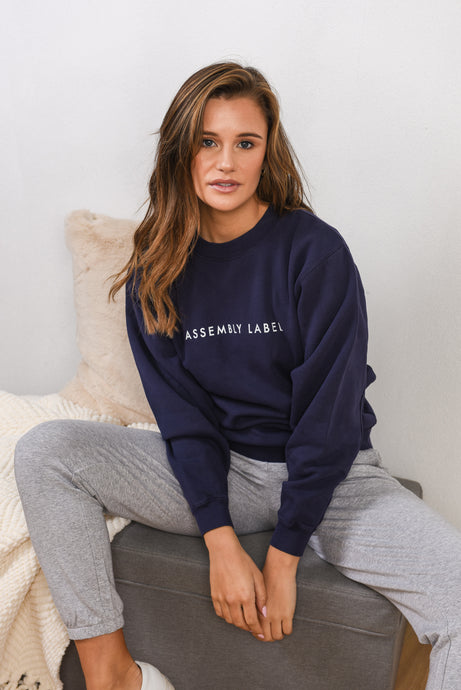 LOGO FLEECE - INDIGO