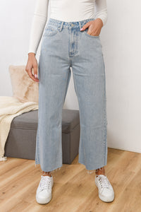 HIGH WAIST FLARE JEAN - PACIFIC BLUE