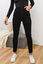 Load image into Gallery viewer, VICE HIGH SKINNY JEAN - JET BLACK