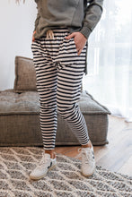 Load image into Gallery viewer, FLUID PANT - BLACK STRIPE