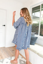 Load image into Gallery viewer, ELKY DRESS - NAVY GINGHAM
