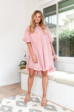 Load image into Gallery viewer, ELKY DRESS - PINK GINGHAM