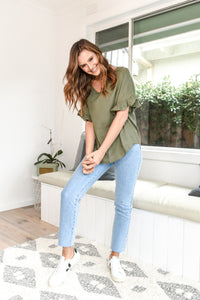 BILLE KATE TOP - OLIVE