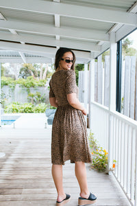 LOREN DRESS - ANIMAL PRINT