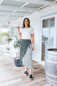 FRANNY SKIRT - BLACK ANIMAL PRINT