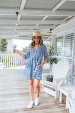 Load image into Gallery viewer, JOLIE DRESS - NAVY GINGHAM