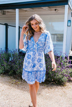 Load image into Gallery viewer, VERONIKA DRESS - BLUE PRINT