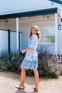 VERONIKA DRESS - BLUE PRINT