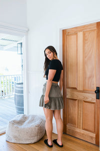 SUPPLE WASHED SKIRT - KHAKI