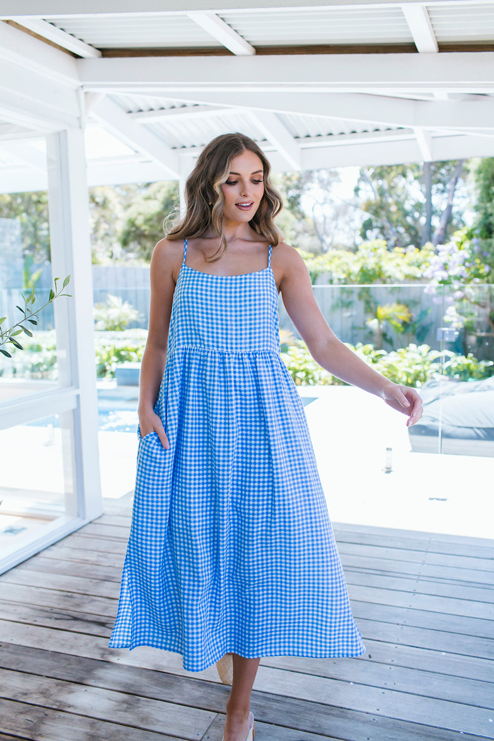 LILA DRESS - BLUE GINGHAM